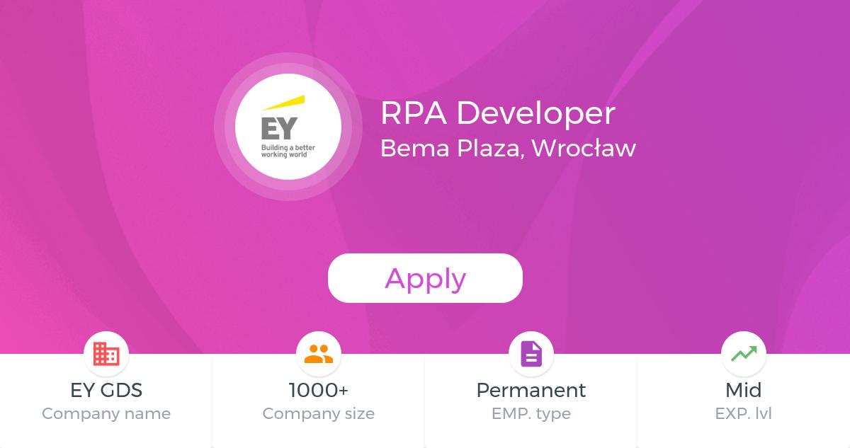 RPA Developer @EY GDS